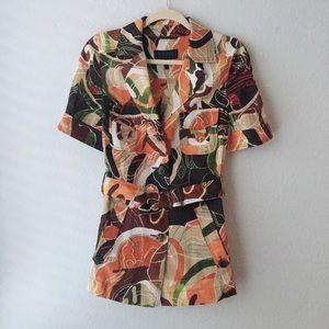 ESCADA SPORT button collar shirt dress